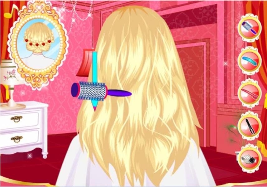 Играть делать причёски для девочек
