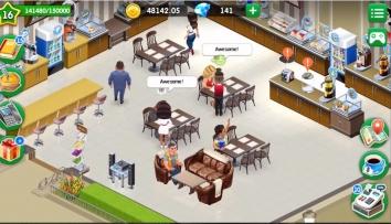 Взломанная Моя кофейня: рецепты и истории (Мод много денег)