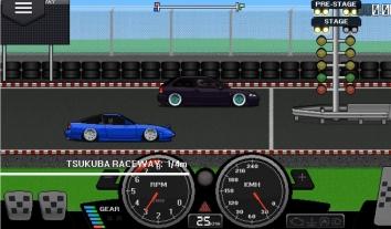 Взломанная Pixel Car Racer на много денег