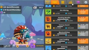 Взломанный Hero Simulator: idle adventure на много денег