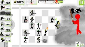 Stickman Army : The Defenders взлом (много денег)