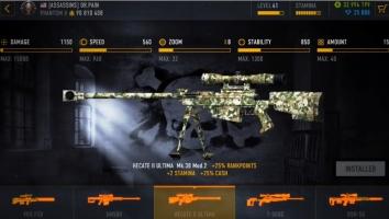Sniper Arena взломанный на много денег