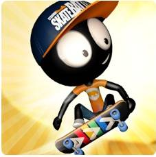 Stickman Skate Battle взломанный
