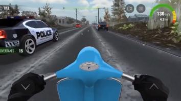 Взломанный Moto traffic race 2