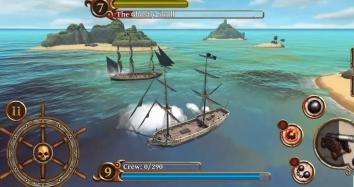 Ships Of Battle Age Of Pirates взломанный (Мод много денег, премиум корабли)