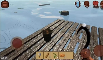 RAFT: Original Survival Game взломанный (Mod: еда)