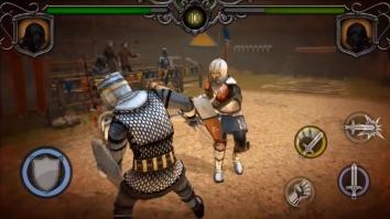 Knights Fight: Medieval Arena взломанный (Мод много денег)