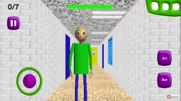 Baldi's Basics in Education взломанный (Мод Stop Baldi, Noclip, Playtime ignores you)