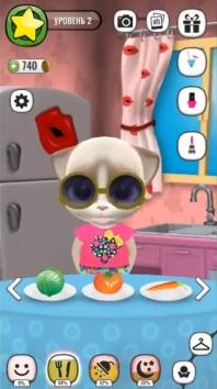 Моя Говорящая Кошка Эмма взломанная (Мод много денег)