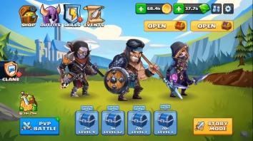 Tiny Gladiators 2 взломанный (Мод свободные покупки)