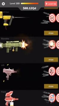 Gun Idle взломанный (Мод много денег)
