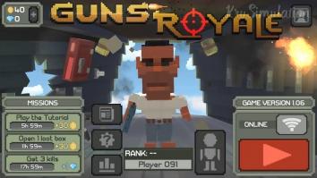 Guns Royale - Multiplayer Blocky Battle Royale взломанный (Мод много денег)