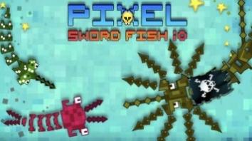 Pixel Sword Fish io взломанный (Мод много звезд и денег)