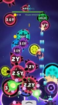 Virus War - космическая игра-стрелялка взломанный (Мод много денег)