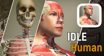 Idle Human взломанный (Мод много алмазов)