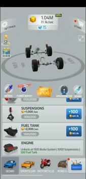 Idle Car взломанный (Mod: много денег и кристаллов)