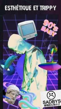 Глитч Фоторедактор - VHS, эффект глитча, vaporwave (Мод pro / полная версия)