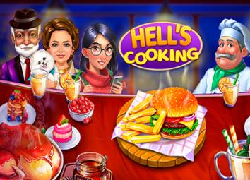 Взломанный Hell's Cooking: Кухонная лихорадка (Мод много денег)