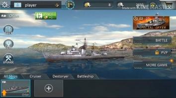 Атака военных кораблей 3D взломанный (Мод много денег)