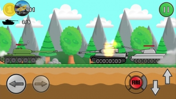 Tank Attack 2 взломанный (Мод много денег)